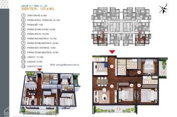 Bán căn góc chung cư Gold Tower 139.5m2 - 3PN, 3WC, ban công ĐN. LH: 098.115.2882 Mr Dũng