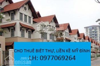 Cho thuê biệt thự phố Cao Xuân Huy, Mỹ Đình, Q. Nam Từ Liêm. Diện tích đất 180m2