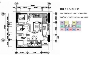 Bán căn 3PN 87 - 89m2 giá rẻ chung cư A10 Nam Trung Yên, Nguyễn Chánh. LH 0972 979 717