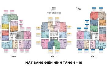 Căn hộ đẹp nhất Sun Lương Yên, căn 124m2, 3 phòng ngủ, căn 11, tòa T1. LH 0904158282