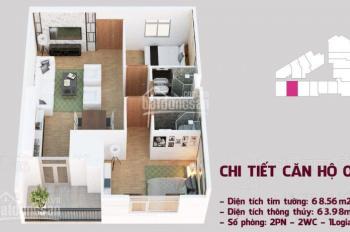 Bán căn hộ 66m2-2pn+2wc, ngã tư Trần Phú, Hà Đông, tặng ngay 1 cây vàng 9999 cho khách thiện chí