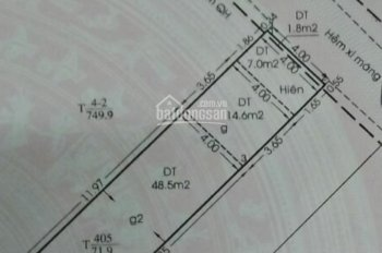 Bán nhà 1 lầu hẻm 141, đường Tám Danh, P. 4, Q. 8, DT: 4x17.5m, giá 4,5 tỷ, LH: 0919.65.18.56