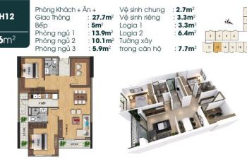 Cần bán căn 3 PN 91m2, LH: 090 223 2293