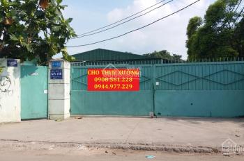 Cho thuê nhà xưởng 1200m2, giá 35 triệu/tháng ở Hà Huy Giáp, P. Thạnh Lộc, Quận 12. LH 0908.561.228