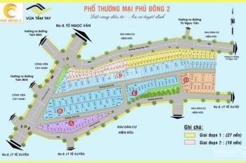 Bán đất khu dân cư Phú Đông 2, Mặt tiền đường Cống Hộp có Sổ Hồng