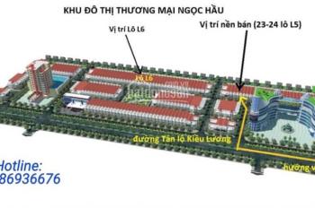 Bán nền nhà liền kề tại khu đô thị thương mại Ngọc Hầu - TP Châu Đốc. Liên hệ: 0986936676