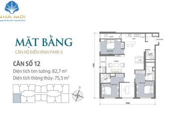 Gia đình cần bán gấp căn góc 4PN, 143m2, giá 6.4 tỷ, bao phí sổ đỏ. Ban công Đông Nam, tầng trung