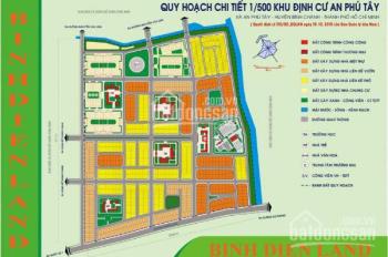 Đất nền dự án KDC An Phú Tây, Bình Chánh, sổ đỏ, TC 100% gần trụ sở liên đoàn, 16 tr/m2. 0796964852