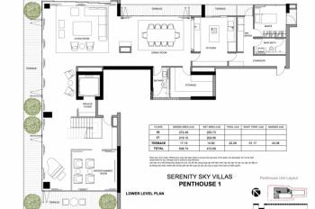 Bán Penthouse Serenity Sky Villas, tại 259 Điện Biên Phủ, Quận 3, LH: 0934130268