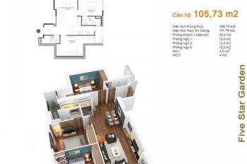 Bán căn hộ 3PN, diện tích 104m2, chung cư Five Star Kim Giang