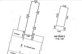 Nhà mặt tiền Thạch Lam 4x17m, gác suốt, 8.7 tỷ hot nhất. LH 0909902068 Tố Quyên
