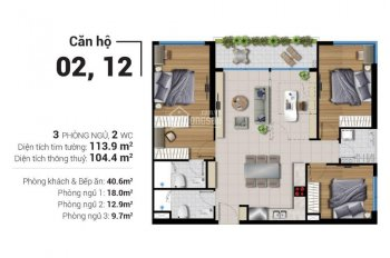 Bán lại căn hộ River Panorama quận 7 với tất cả các diện tích, giá giai đoạn đầu (The Garden Bay)