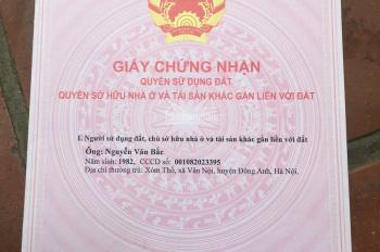 Bán đất thổ cư xóm Thố, thôn Thố Bảo, xã Vân Nội, huyện Đông Anh, Tp Hà Nội