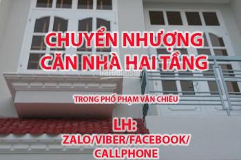 Chuyển nhượng căn nhà phố đang cho thuê 10tr/tháng - Phạm Văn Chiêu, phường 14, quận Gò Vấp