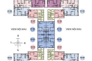 Chính chủ bán căn hộ chung cư 1706 tòa D2 6TH Element - Hồ Tây, 83m2, 3.95 tỷ. LH: 0969.392.391