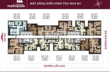 Bán lại căn hộ 2PN tầng 10-15 tòa M1 căn số 12 giá 5,3 tỷ bao tên, nội thất nguyên bản, 0916568855