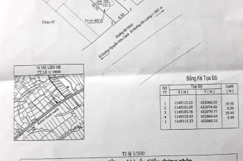 Cần bán lô góc hai mặt tiền gần Bờ Kênh sau bệnh viện đang xây, P. 11, TP. Vũng Tàu, 0909 638 336