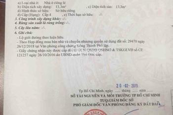 Chính chủ gửi bán đất đẹp đường 185 Ngô Chí Quốc, p. Bình Chiểu, Thủ Đức