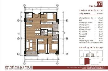 Chính Chủ bán căn hộ 807 tòa N01T3 ban công hướng Nam về khu đô thị Starlake LH: 0859021222