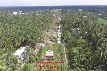 Bán đất diện tích 1038 m2, Phú Hưng Bến Tre. Giá 1,8 tr/ m2 (thương lượng)