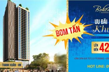 Mua nhà khu Thanh Xuân - mua đâu cho rẻ bằng Bohemia của Vinaconex - đơn giá từ 24tr/m2 BG thô