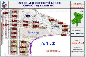 Chính chủ bán liền kề thanh hà A1.2 LK15 Ô 07 diện tích 80m2, đường 17m, nhìn chung cư nối ra hồ