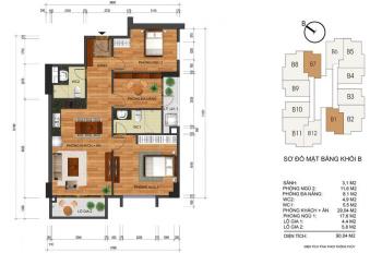 Hot! Thống Nhất Complex, Quận Thanh Xuân mở bán thêm 36 căn đẹp. Giá vẫn chỉ 2.8 tỷ/căn 3PN