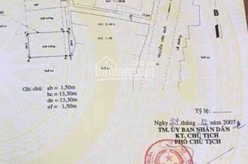 Nhà cấp 4 và đất MT Nguyễn Văn Quá, diện tích: 10x85m(nở hậu chữ T), tổng diện tích: 1000m2