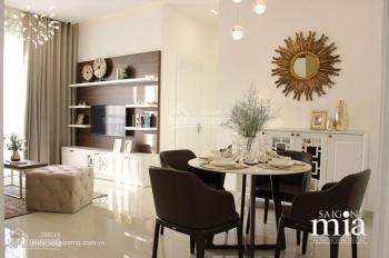 Cần tiền bán căn hộ Sài Gòn Mia ngay khu Trung Sơn, mặt tiền đường 9A, căn 2 PN, góc view hồ bơi