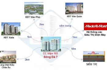 Cắt lỗ 200 triệu căn hộ 78m2 CC Viện 103, Văn Quán chỉ 1.5 tỷ