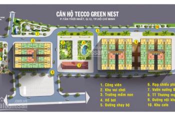 Bán căn hộ Tecco Green Nest 2, DT 57m2, 2PN 2WC 2 ban công, Quận 12, giá 1,5 tỷ, LH 0907318989 Hưng