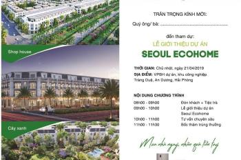 Bán đất khu đô thị Seoul Eco Home Tràng Duệ, An Dương, sổ đỏ từng lô, giá chỉ từ 11 tr/m2