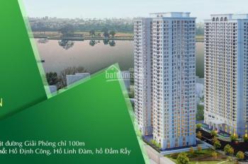 Chính chủ cần bán gấp căn hộ CC Eco Lake View 32 Đại Từ, DT: 70m2, 2PN, giá 1,6 tỷ, LH 0979960266