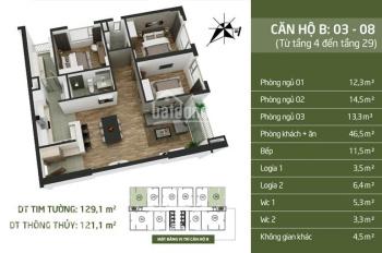 Chính chủ cần chuyển nhượng lại căn hộ 08 góc cực đẹp dự án N03T2 Taseco