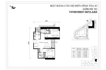 Cắt lỗ căn hộ 2PN ban công Đông Nam tòa S3 Vinhomes Skylake