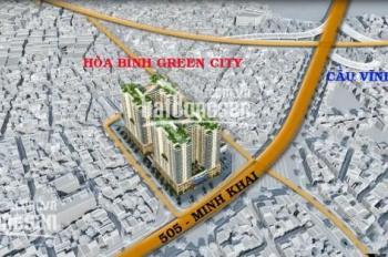 Cần bán căn hộ 2PN 70m2 BC Đông Nam dự án chung cư Hòa Bình Green 505 Minh Khai, Hà Nội. 0979263393