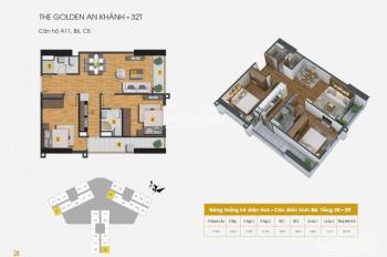 Bán lỗ chung cư Golden An Khánh, căn 1505, 32T DT 66.3m2, giá 1.03 tỷ. LH chính chủ 0985764006 A Tú
