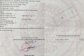 Chính chủ bán đất mặt đường số 248 Nguyễn Xiển, Thanh Xuân, đã có sổ đỏ. LH: 091.3087288