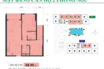 Căn số 5 tháp GM3 cần BÁN 69m2 2PN bàn giao HTCB, tầng cao, view sân bay và CV Gia Định giá 3,35 tỷ