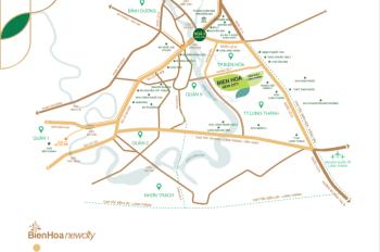 Chính chủ nhượng lại 10 nền vị trí đẹp dự án Biên Hòa New City, giá 1,22 tỷ/100m2. LH 0949387379