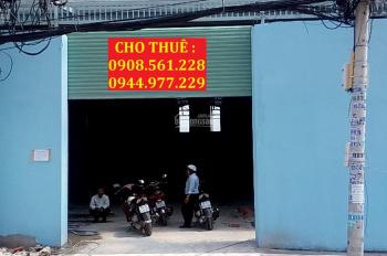 Cho thuê nhà xưởng 450m2 giá 25 tr/tháng, cụm công nghiệp Hiệp Thành, Quận 12. LH: 0937.388.709