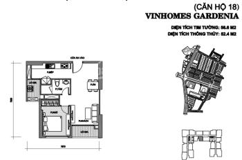 Chính chủ bán căn 1 ngủ Vinhomes Gardenia - Nam Từ Liêm