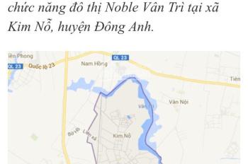 Bán đất 120m2 tại Thôn Đoài, Kim Nỗ, Đông Anh, Hà Nội. Đường 5m