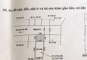 Bán đất mặt tiền đường Số 51, P Bình Thuận, Quận 7. DT: 5x15m, giá 5.4 tỷ TL - Hướng bắc