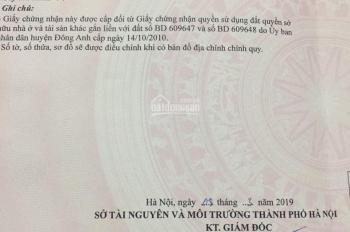 Chính chủ cần bán 94m2 đất kinh doanh ở Vân Nội, hướng Nam, cách đường gom đi cầu Nhật Tân 50m