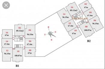 Bán căn hộ Duplex 134m2 thông tầng 2 và 3, giá 22,5 triệu/m2 chung cư B1 B2 Tây Nam Linh Đàm