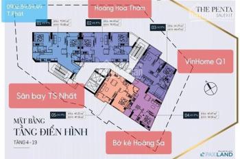Cần chuyển nhượng gấp căn 1PN, 2PN dự án The Penta, Hoàng Hoa Thám, Bình Thạnh
