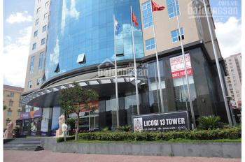 Cho thuê văn phòng tòa nhà Licogi 13, Khuất Duy Tiến, DT 450m2 căn góc rất đẹp. LH 0856655313