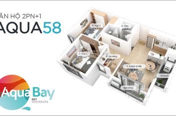 Bán gấp căn chung cư Aquabay Ecopark 58m2 giá rẻ nhất thị trường, 1,250 tỷ bao phí. LH: 0916789826