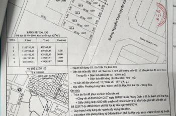 Đất mặt tiền đường Nguyễn Thái Học P. Long Tâm, TPBR DT 5x20m hướng đông giá 1 tỷ 950 LH 0937067578
